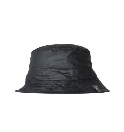 Barbour x Norse Projects Wax Black Bucket Hat