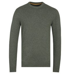 Barbour Tisbury Forest Green Crew Neck Sweater