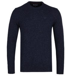 Barbour Tisbury Navy Crew Neck Knitted Sweater