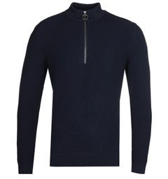 Barbour x Norse Projects Quarter Zip Navy Sweater