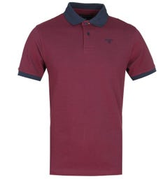 Barbour Red Sports Polo Shirt