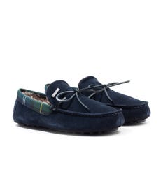 Barbour Tueart Navy Suede Slippers