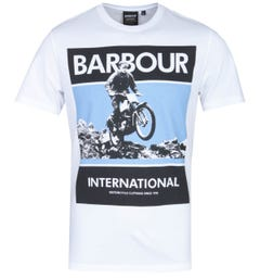 Barbour International Motorcycle Frame White T-Shirt