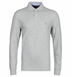 Tommy Hilfiger Long Sleeve Grey Polo Shirt