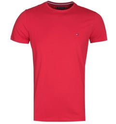 Tommy Hilfiger Stretch Slim Fit Red T-Shirt