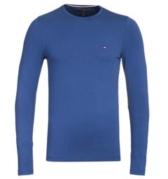 Tommy Hilfiger Stretch Slim Fit Blue Long Sleeve T-Shirt