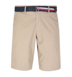 Tommy Hilfiger Brooklyn Beige Belted Shorts