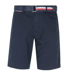 Tommy Hilfiger Brooklyn Navy Belted Shorts