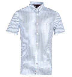 Tommy Hilfiger Slim Seersucker Stripe White Shirt