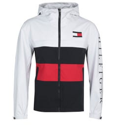 Tommy Hilfiger Colourblock White Hooded Jacket