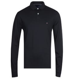 Tommy Hilfiger Long Sleeve Navy Polo Shirt