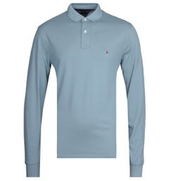 Tommy Hilfiger Long Sleeve Blue Polo Shirt