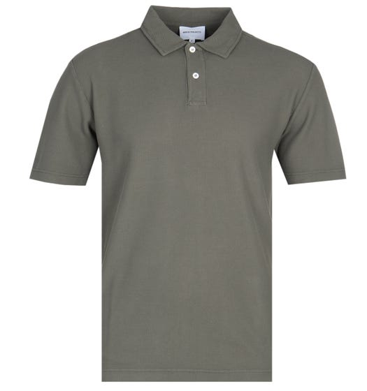 Norse Projects Pigment Dyed Khaki Green Polo Shirt