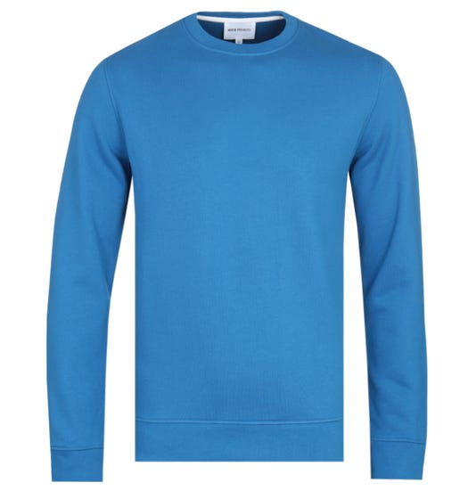 Norse Projects Vagn Royal Blue Crew Neck Sweatshirt