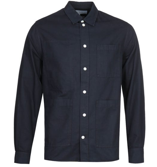 Norse Projects Thorsten Canvas Navy Shirt