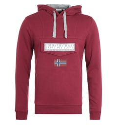 Napapijri Burgee Burgundy Hooded Sweatshirt