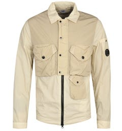 CP Company Contrast Light Beige Overshirt
