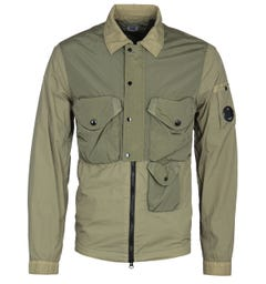 CP Company Contrast Olive Green Overshirt