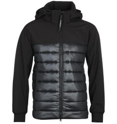 CP Company Quilted Black Goggle Jacket