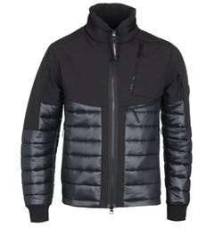 CP Company Soft Shell Black Quilted Jacket
