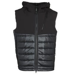 CP Company Quilted Black Gilet