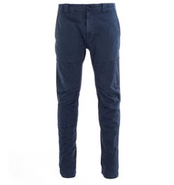 CP Company Garment Dyed Stretch Navy Trousers
