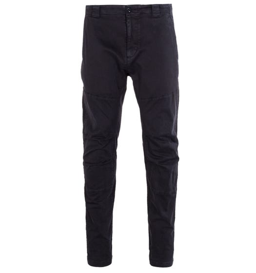 CP Company Garment Dyed Stretch Black Trousers