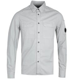 CP Company Button-Through Two Pocket Stone Grey Shirt