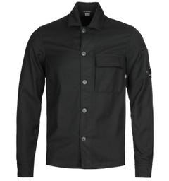CP Company Flannel Lens Black Shirt