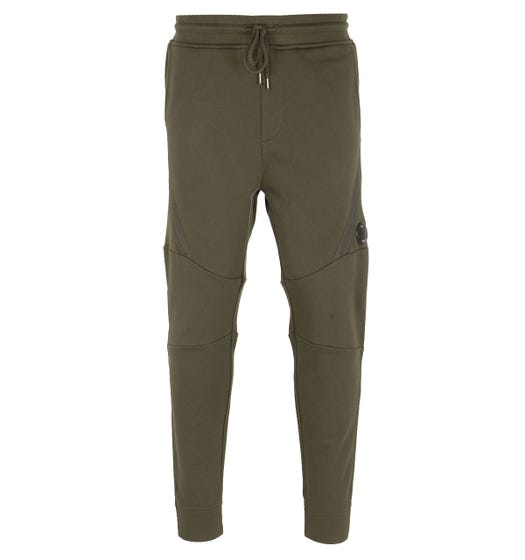 CP Company Zip Detail Lens Olive Green Sweatpants