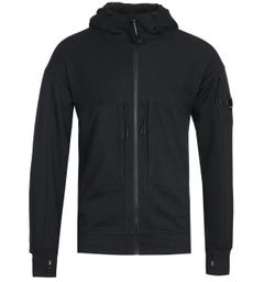 CP Company Full Zip Vertical Pocket Black Hoodie