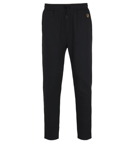 Fred Perry Twill Black Track Pants