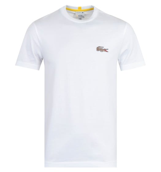 Lacoste x National Geographic White Short Sleeve T-Shirt
