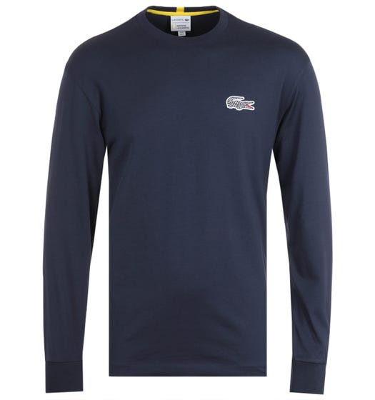 Lacoste x National Geographic Marine Blue Long Sleeve T-Shirt