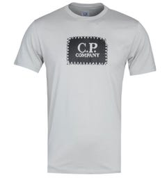 CP Company Carbon Stitch Print Stone Grey T-Shirt