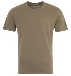 Nudie Jeans Co Roy Pocket T-Shirt - Army Green