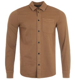 Nudie Jeans Co Chet Pigment Dye Extra Slim Fit Shirt - Hazel