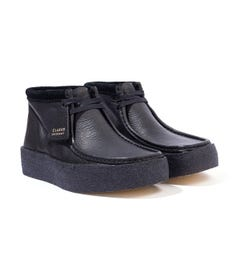 Clarks Originals Wallabee Cup Leather Boots - Black