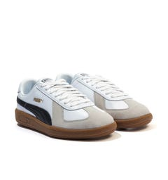 Puma Army OG Leather & Suede Trainers - White