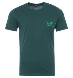 BOSS Bodywear RN 24 Sustainable Crew Neck T-Shirt - Teal Green