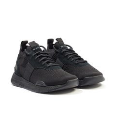 BOSS Titanium Sustainable Knitted Sock Trainers - Black