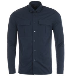 BOSS Niceto Relaxed Fit Utility Shirt - Navy