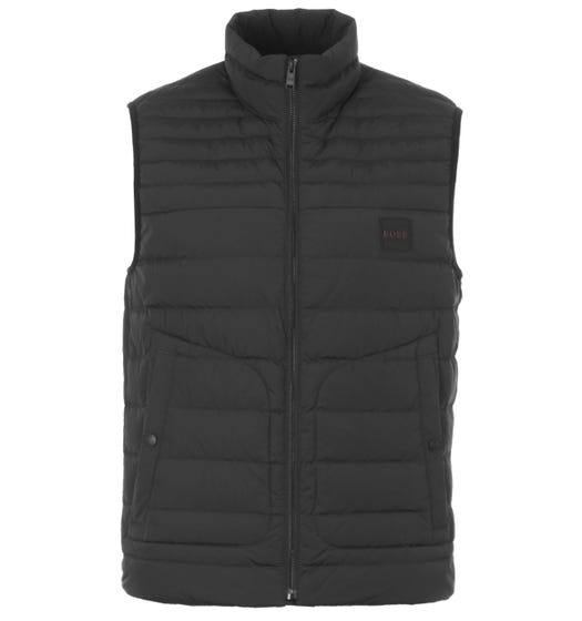 BOSS Water Repellent Featherweight Down Gilet - Black