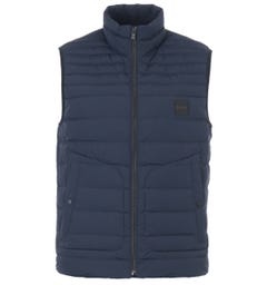 BOSS Water Repellent Featherweight Down Gilet - Navy