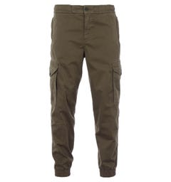 BOSS Seiland Stretch Cotton Relaxed Fit Cargo Trousers - Dark Green