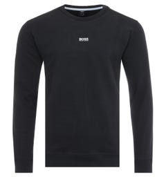 BOSS Central Logo Sustainable French Terry Sweatshirt - Black