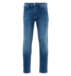 HUGO Comfort Stretch Tapered Fit Jeans - Mid Blue