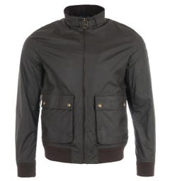 Belstaff Scouter Waxed Bomber Jacket - Faded Olive