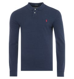Polo Ralph Lauren Slim Fit Long Sleeve Polo Shirt - Navy