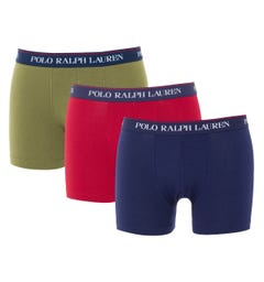Polo Ralph Lauren 3 Pack Classic Trunk Boxers - Navy, Red & Green